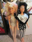 Jem and the Holograms dolls - jetta and rock & curl jem