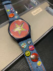 1998 VINTAGE SWATCH GI101 STARS  PINS NEW in Box PUNK ROCK JEANS rare
