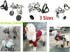 3 Sizes Stainless Steel Pet Dog Wheelchair Scooter for Pet Dog Behind Hind Legs