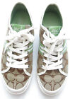 COACH Monogram Canvas Patent Leather Lace Up Athletic Sneaker Size 75 B