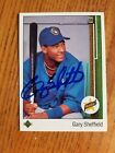 Gary Sheffield Signed autograph 1989 Upper Deck RC