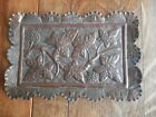 Crafts Copper Tray With Vine Leaves and Impressed Initials