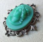 Nineteenth Century Antique Glass Button in Silver