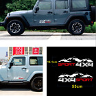 2 Pcs Vinyl 4X4 Sport Mountain Graphic Car Sticker For Truck SUV JEEP Pickup