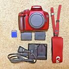 Canon EOS Rebel T3 1100D Red 122MP DSLR Digital Camera Body only