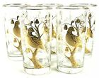 Vintage Partridge in a Pear Tree Gold Christmas Holiday Glasses Libbey 5.5