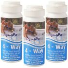 3 x 4 Way CHLORINE Test Strips x150 AQUASPARKLE Hot Tub Spa Pool Water Testing