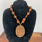 18th/19th Chinese Medicine Herb ChenXiang Aloeswood Pendant with Beads Necklace