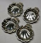 STERLING SILVER NUT DISH, SET OF 4, SHELL DESIGN, NICE