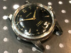 Vintage Certina Men's wristwatch automatic 21 jewels stainless steel rare black