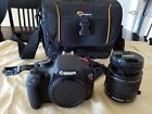 Canon EOS Rebel T5 1200D DSLREFS 18 55mm lens32GB 633x Lexar card padded bag