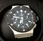 HUBLOT BIG BANG STAINLESS STEEL WITH CERAMIC BEZEL WATCH, REF. 301.SM.1770.RX