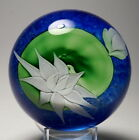 Early Large 1982 Orient & Flume Bruce Sillars Water Lily and Bud Paperweight