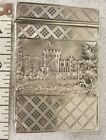 Antique Victorian Sterling Silver Castle Top Card Case. Castles front and back.