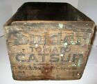 Vintage Snider Tomato Catsup Wooden Shipping Crate Ketchup Advertising Box