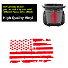 Universal DIY Red USA Flag Pattern Car Hood Body Sticker Decal for Jeep Ford SUV
