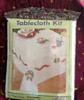 Village Linens Snow Buddies 60 x 104 Tablecloth Stamped for Embroidery