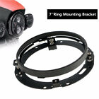 7 Car Round Headlight Ring Mount Brackets Holder For Harley Jeep Wrangler JK