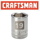 Craftsman 12 38 14 Drive Easy Read Shallow Sockets 6 Point Any Size Mmsae