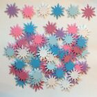 50 Snowflake Punchies 1 7 8 Glitter Cardstock Frozen Colors