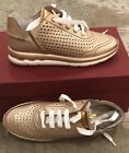 600 New Salvatore Ferragamo Ladies Shoes Rose Gold Womens Sneakers Size 6 US 36