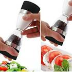 2in1 Dual Salt Pepper Mill Spice Grinder Hourglass Shape Shaker to Clean Manuall