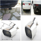 Durable Chrome Curved 63mm Straight Edge Car Exhaust Tail Rear Muffler Tip Pipe