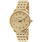 Fossil Womens Tailor ES3713 Rose Gold Stainless Steel Plated Japanese Quartz