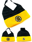 Boston Bruins New Adidas Cuffed Fanatics Skull Beanie Black Gold Pom Era Hat Cap