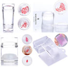 Clear Jelly Silicone Nail Art Stamping Stamper  Scraper Set Tools DIY