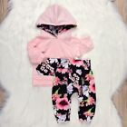 Baby Girl Floral Hooded Sweatshirt Top + Pants Trousers Outfit Clothes Set 0 24M