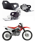 HONDA CRF 230 F SKID PLATE ALUMINIUM UNDER GUARD ENGINE PROTECTOR BLACK / SILVER