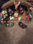 Vintage Nativity Manger Set Japan