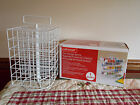 NEW Craft Acrylic Paint Storage Rack Organizer Wire Carousel Revolving Holds 48