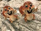 Pair of Unique vintage salt and pepper shakers Cartoon Like Angry Squirrels