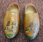 Antique Hand Carved Painted Wooden Dutch Holland Clogs