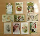 10 VINTAGE EARLY SANTA CLAUS CHRISTMAS POSTCARDS GREAT DETAILED IMAGES