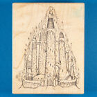 Large Winter Castle Rubber Stamp by Stampa Barbara Frozen Ice Fantasy Magic