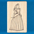 Princess Rubber Stamp by Stampa Barbara Fantasy Fairy Tale Ball Gown Dress