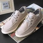 Mens Flat Casual Flax Canvas Shoes Solid Low Top Sneaker US 9EUR44 Gray shede