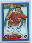 2012 Topps Chrome Bryce Harper Rookie Auto Blue Refractor RC Autograph 199