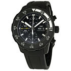 Pre-owned IWC Aquatimer Automatic Chronograph Black Rubber PRE-IWC3767-05