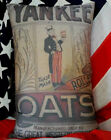 Patriotic 4th of July Uncle Sam USA flag Yankee oats pillow Primitive Kitchen