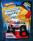 HOT WHEELS 2013 CAPTAIN AMERICA FIRST EDITION MONSTER JAM TRUCK CRUSHABLE CAR