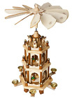 BRUBAKER Christmas Decoration Pyramid 18 Inches Nativity Play 3 Tier Carousel 6