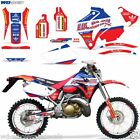 Graphic Kit Honda CRM250 AR Decal Wrap w/ Backgrounds + Rim Stickers CRM 250 LO