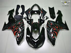 Fit for Kawasaki Ninja ZX10R 2006 2007 Injection Black Fairing Kit Plastic c006