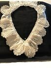 Magnificant Antique Hand Beaded Lace Collar. Beautiful! Off White.