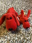 1996 Rover The Dog And Baby River - TY Beanie Baby- Retired First Gen