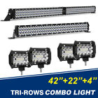 42 LED Light Bar + 22 + 4inch Pods Cube Lamp Total 5570W Offroad Truck 4WD SUV